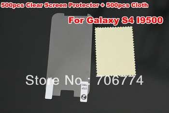 New CLEAR Screen Protector Guard Film For Samsung Galaxy S4 I9500 Without Package 500pcs/lot DHL Free Shipping