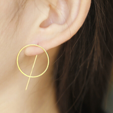 E222New Punk Style Cool Metal Round Studs Earrings Wholesale(China (Mainland))