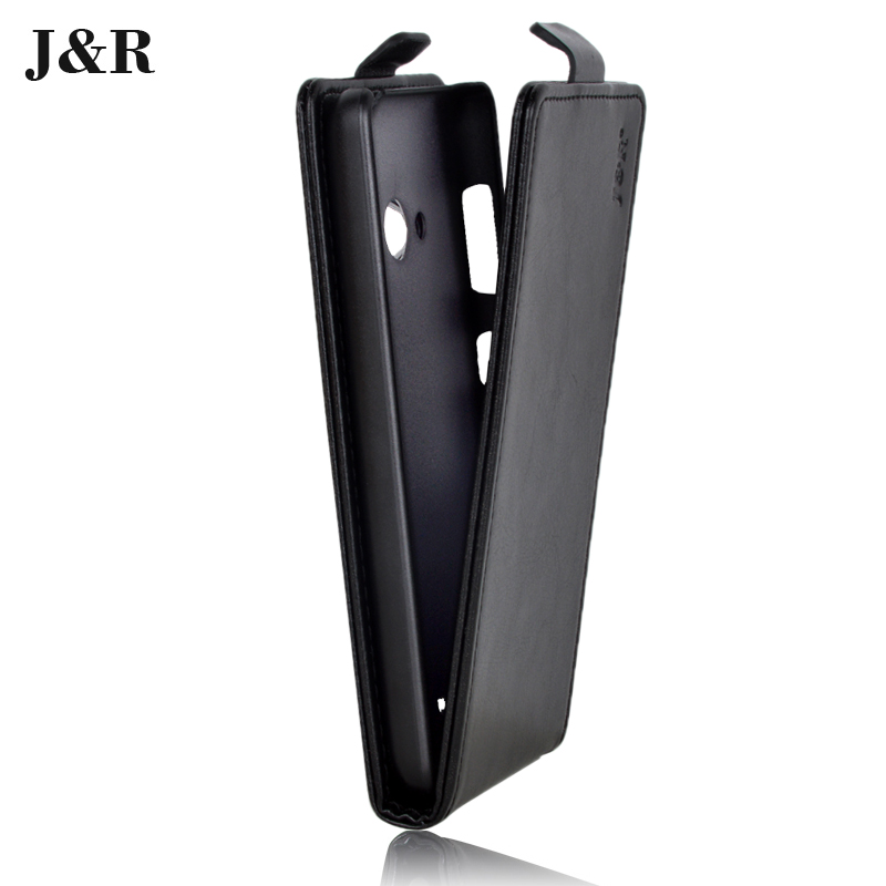 J&R Brand PU Leather Cover Microsoft Lumia 535 Flip Case Nokia Vertical Magnetic Phone Bag 20 Colors - Kemity Co., LTD store