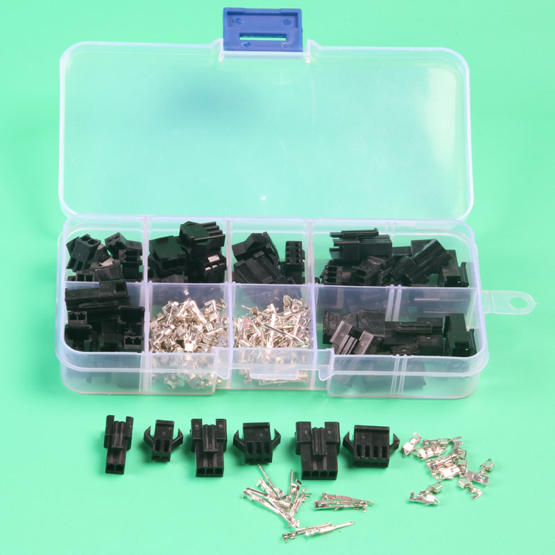 25 sets kit sm 2.54mm automotive electrical wire connectors for car in box housing pin header 2p 3p 4pin 5 pin crimp connector(China (Mainland))