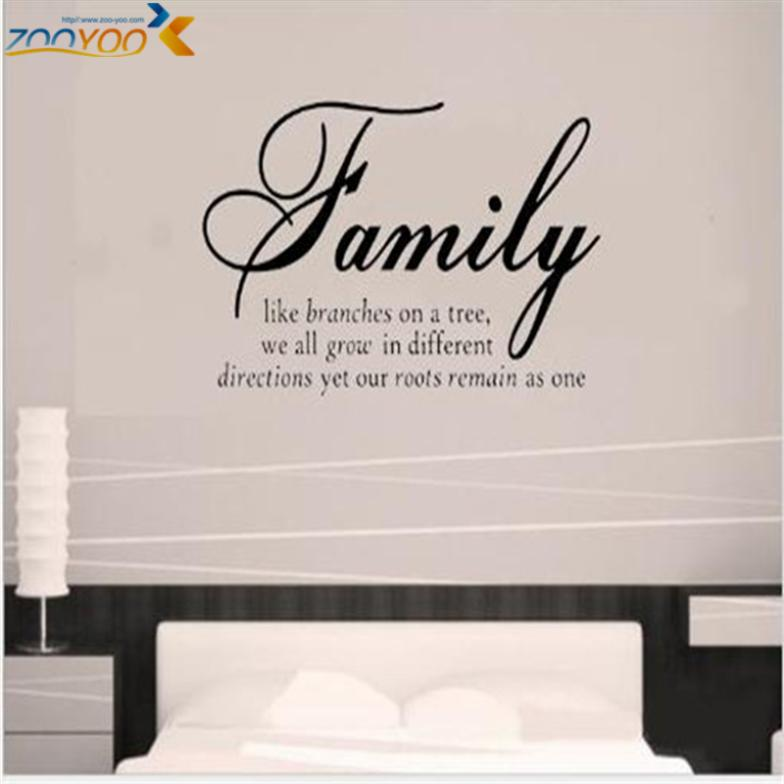 Decorative Wall Decal Quotes : Aliexpress buy family like branches home decor