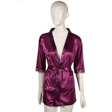 Women Satin Lace Silk Soft Underwear Lingerie Nightdress Sleepwear Robe Sexy Pajamas Nighty New Sale(China (Mainland))
