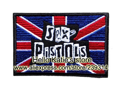 SEX PISTOLS Band Iron On Patch ot Sticker, Heavy Metal Music Fabric Jacket Patch, Rock Punk Badge, Kids Clothing DIY Accosseries(China (Mainland))