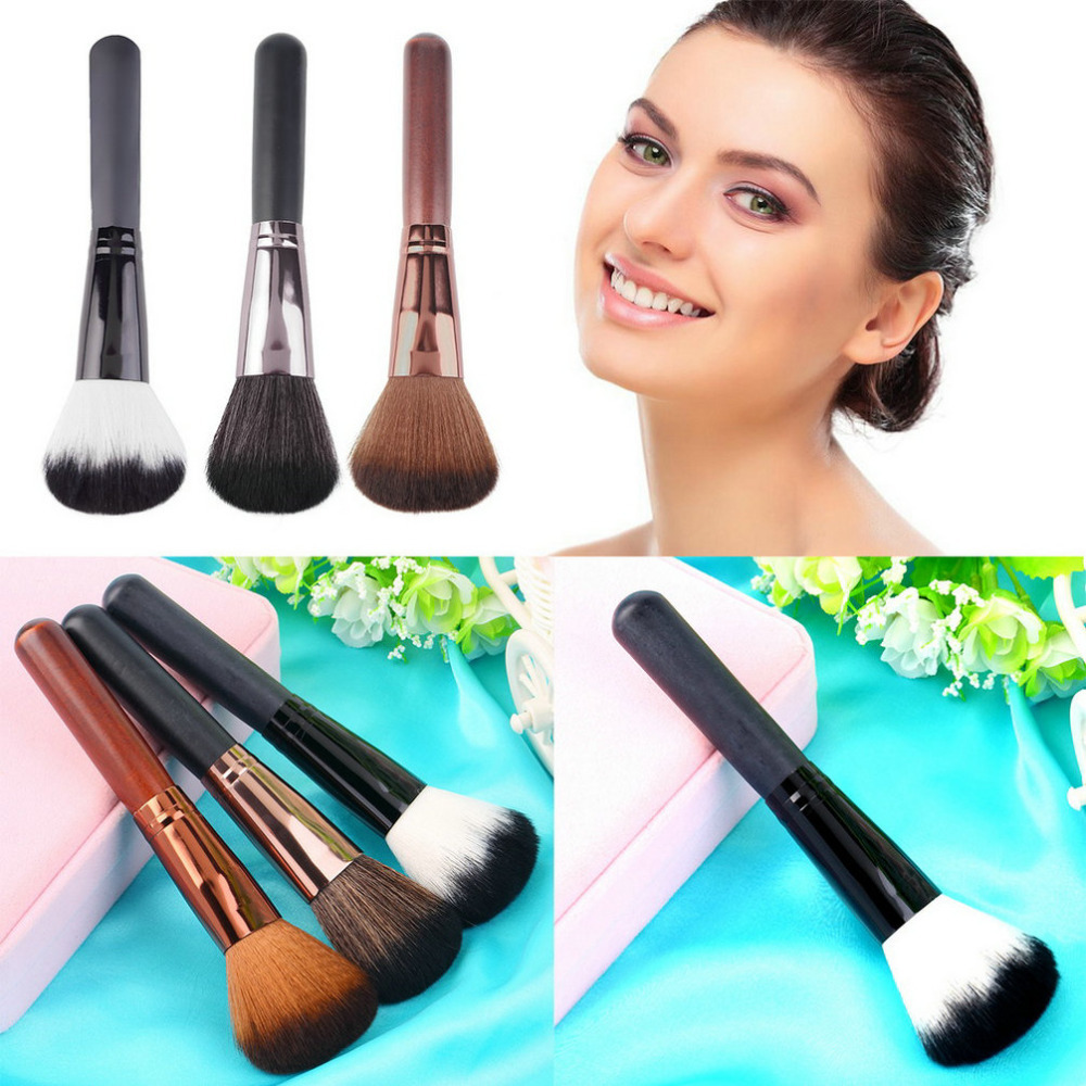 Гаджет  Professional Make Up Beauty Face Powder Wooden Handle Multi-Function Blush Brush kabuki blending makeup brushes Cosmetic Tool None Красота и здоровье