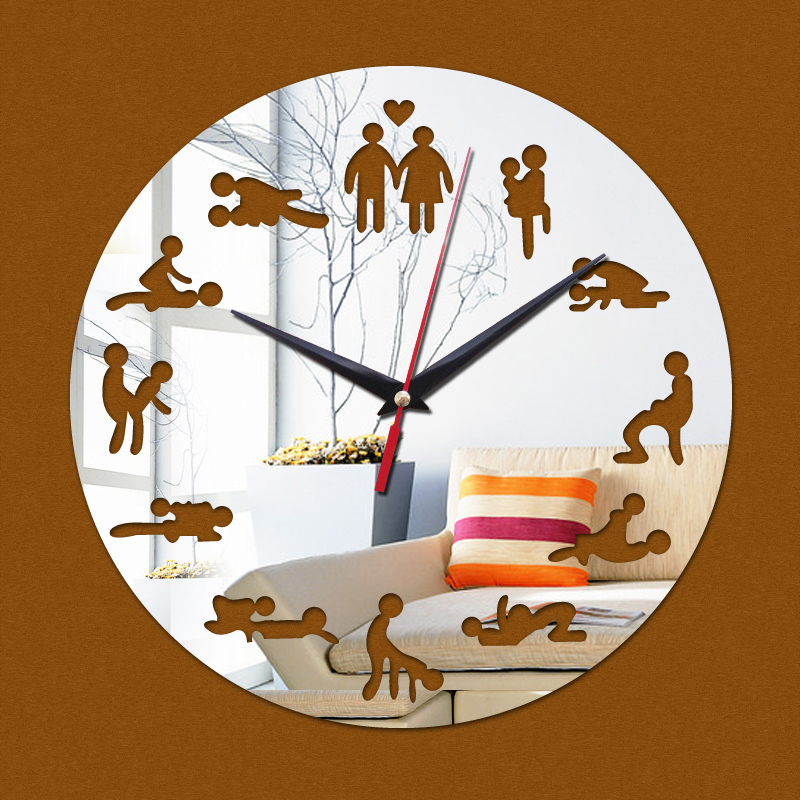 Buy 2016 new hot 3d diy acrylic mirror - Reloj de pared original ...