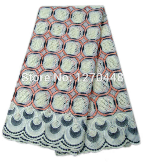 Здесь можно купить  Latest design Good quality African cotton mesh lace fabric fashion style embroidered Swiss Voile lace for African clothes H168-3  Дом и Сад