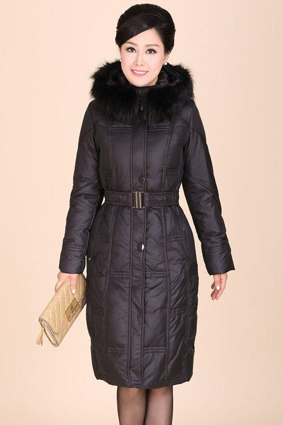 Women's Monther Winter Clothing Coat Jacket & parka real big fur collar hood Black plus size 2XL 3XL 4XL 5XL 6XL 7XL WS2105