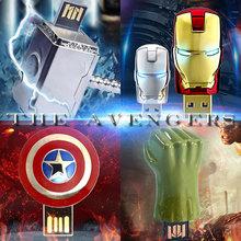The Avengers usb flash drive iron man pen drive Captain America usb stick Hulk Thor pendrive 4G 8G 16G 32G U disk Freeshiping