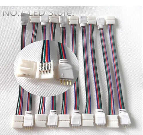 !!1X New 4-Pin Male/Female Connector Wire Cable 3528 5050 SMD RGB LED Strip Light - NO.1 Store store