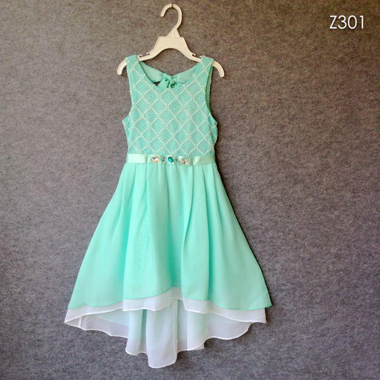 Гаджет  Summer Girl Dress Princess Rhinestone Belt Hollow Lace Chiffon Party Dresses For Girls clothes Size 7-16Y vestido infanti None Детские товары