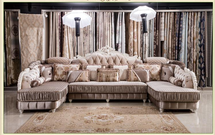 Popular European style living room furniture sectional sofa set in high quality fabric U01 free shipping(China (Mainland))