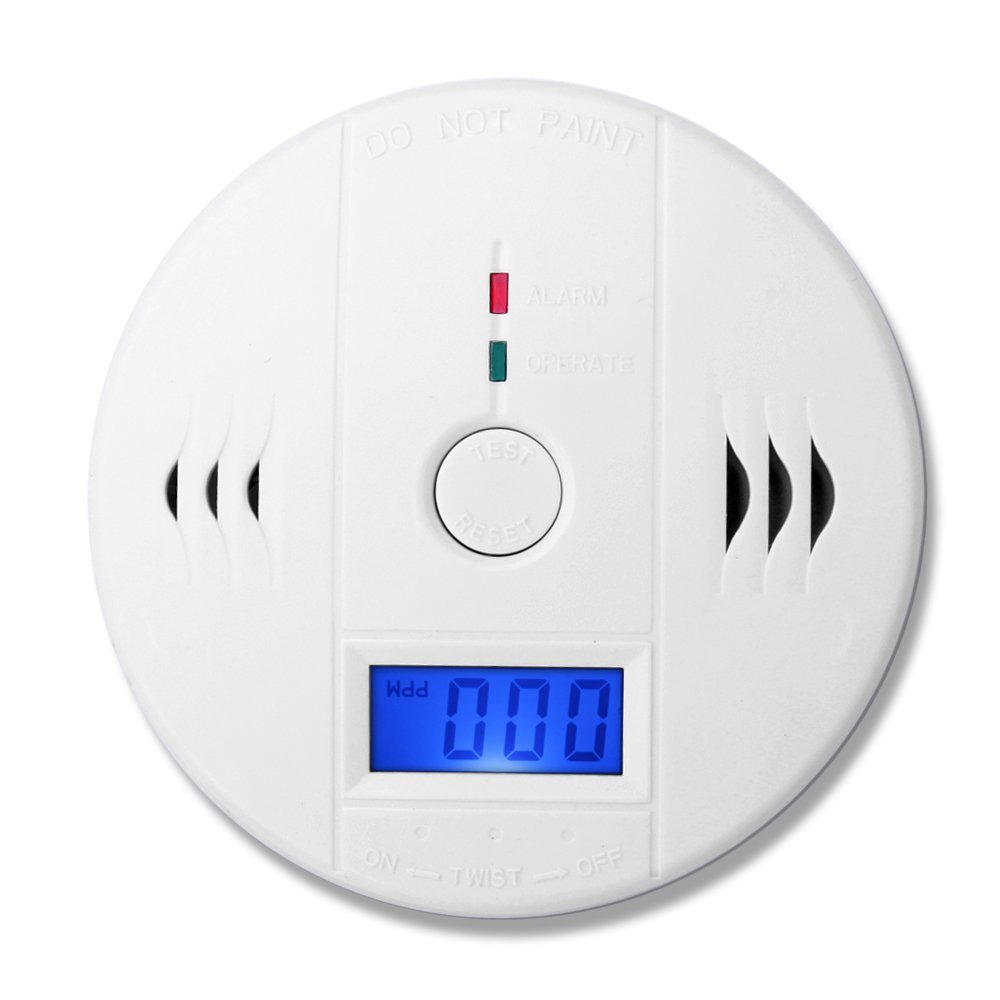 (1 PCS)LCD Display CO Carbon Monoxide Poisoning Sensor Monitor Portable and Compact Alarm Detector Home Security(China (Mainland))