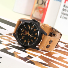 2016 new SOKI fashion man watch business quartz watches, High quality PU strap Wrist watch,Luminous pointer,