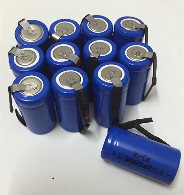 12pcs/lot AA Ni-Cd 1.2V 2/3AA 600mAH rechargeable battery NiCd charging Batteries - Blue Free Shipping(China (Mainland))