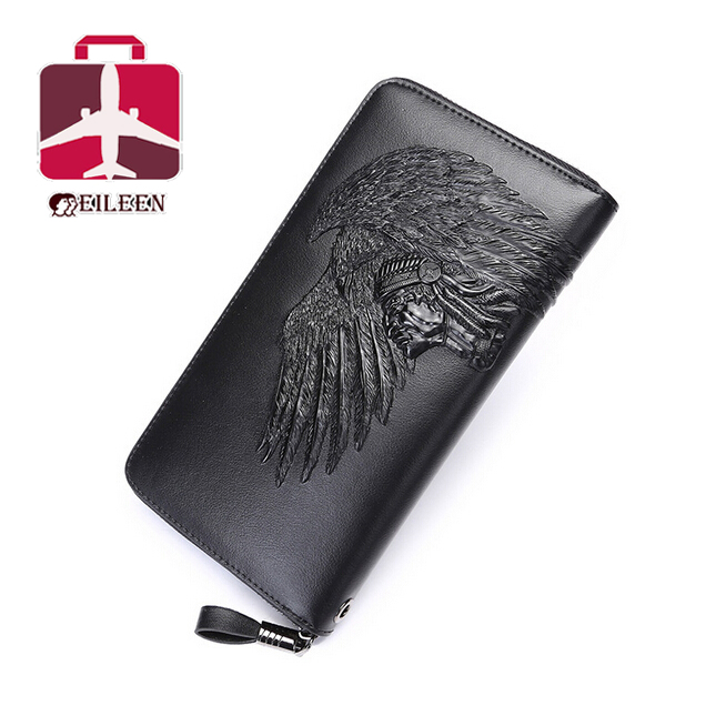 Genuine leather wallet high quality designer wallets famous brand women and men vintage wallet Indians 2016 purses new fashion(China (Mainland))