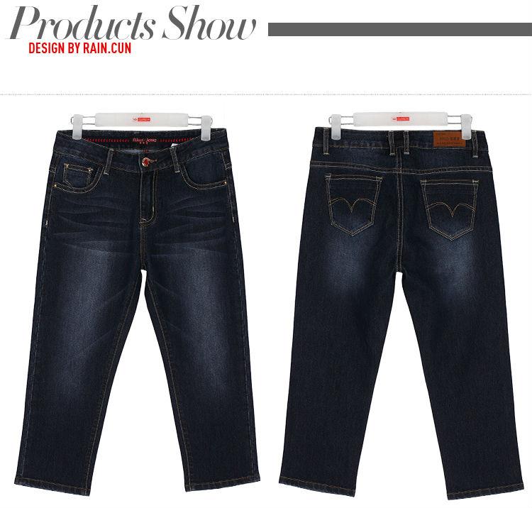 Women jeans calf-length pants denim jeans summer slim pencil pants blue jeans cotton washed shorts causal style plus size 9603