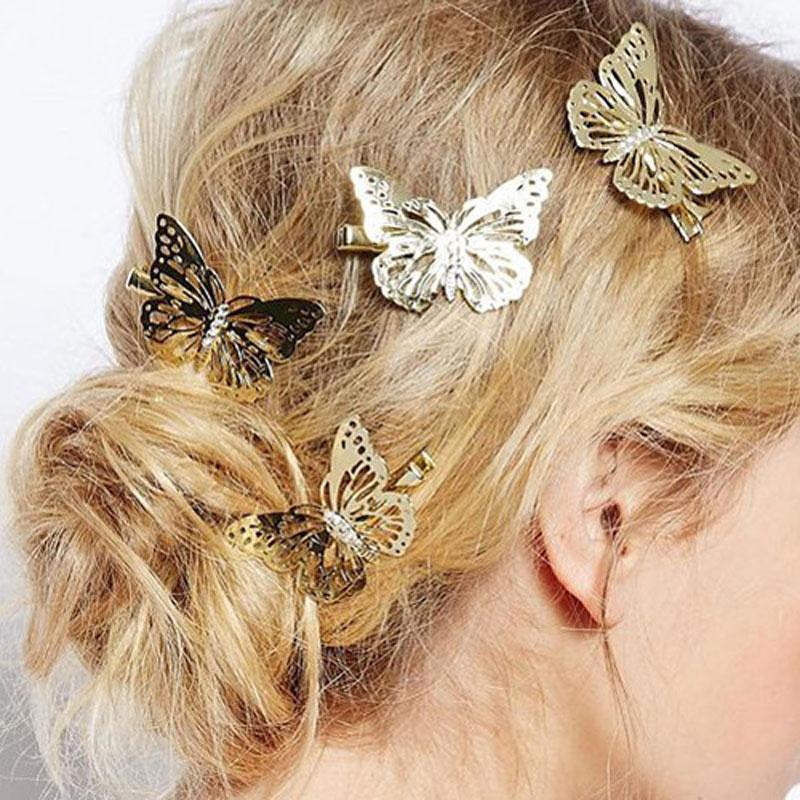 Fashion Hair Accessories Headwear Hair Grips Metal Gold Hair Clip Hairpins Barrette Jewelry For Women Girls(China (Mainland))