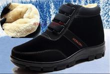 38-48 tamaño grande hombres calientes del invierno zapatos Casual 2016 padre alta calidad agregar terciopelo Botas para la nieve Botas de terciopelo neve(China (Mainland))