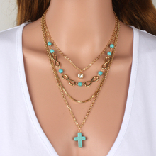 multi-layer necklaces fashion accessories gold plated chain bar necklace beads long strip pendant necklaces women jewelry