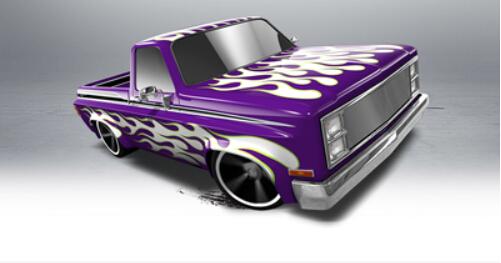 2013 Hot Wheels Car Silverado pickup truck alloy Models Toy 166/250 Free shipping(China (Mainland))