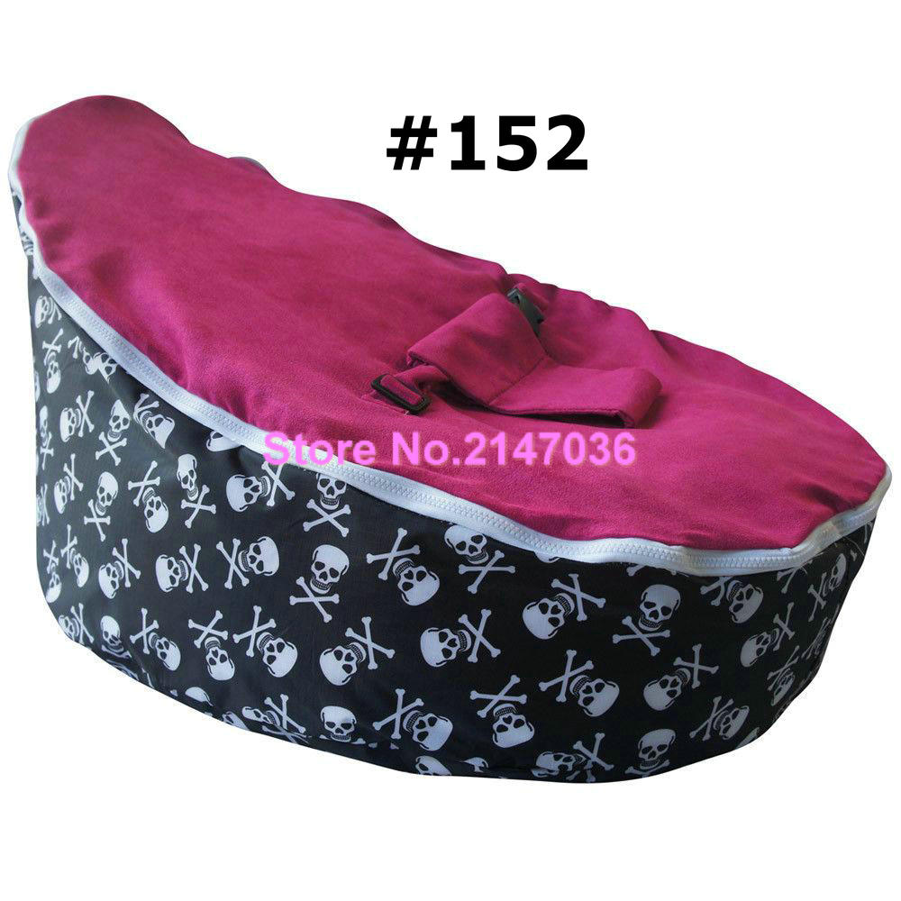 Promotional cheap price good quality Pirate skull with pink seat baby beanbag chairs,Infant sleeping bean bag toddlers sofa seat(China (Mainland))