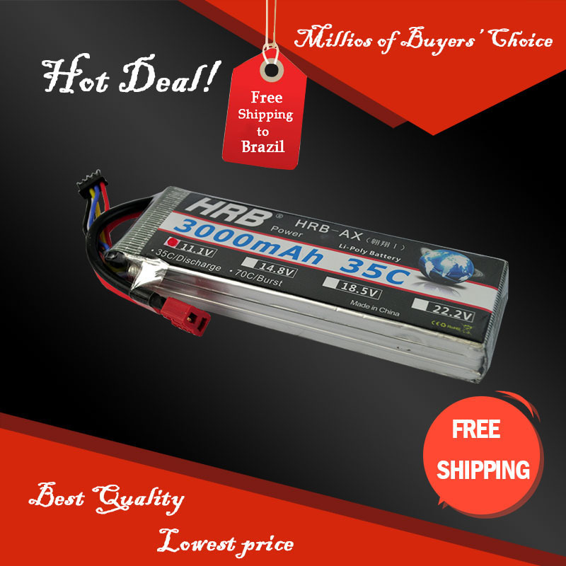 Free Shipping HRB Wholesale Price 11.1V 3000mah 35C Max 55C Toys & Hobbies For Helicopters RC Models Li-polymer Battery(China (Mainland))