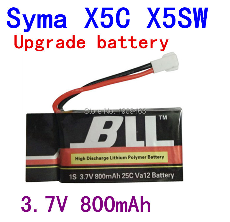 Fast Charging 800mAh Battery For Syma X5 X5C X5SC X5C-1 V931 H5C CX-30 CX-30W Quadcopter Spare Parts With 3.7V X5C Battery(China (Mainland))
