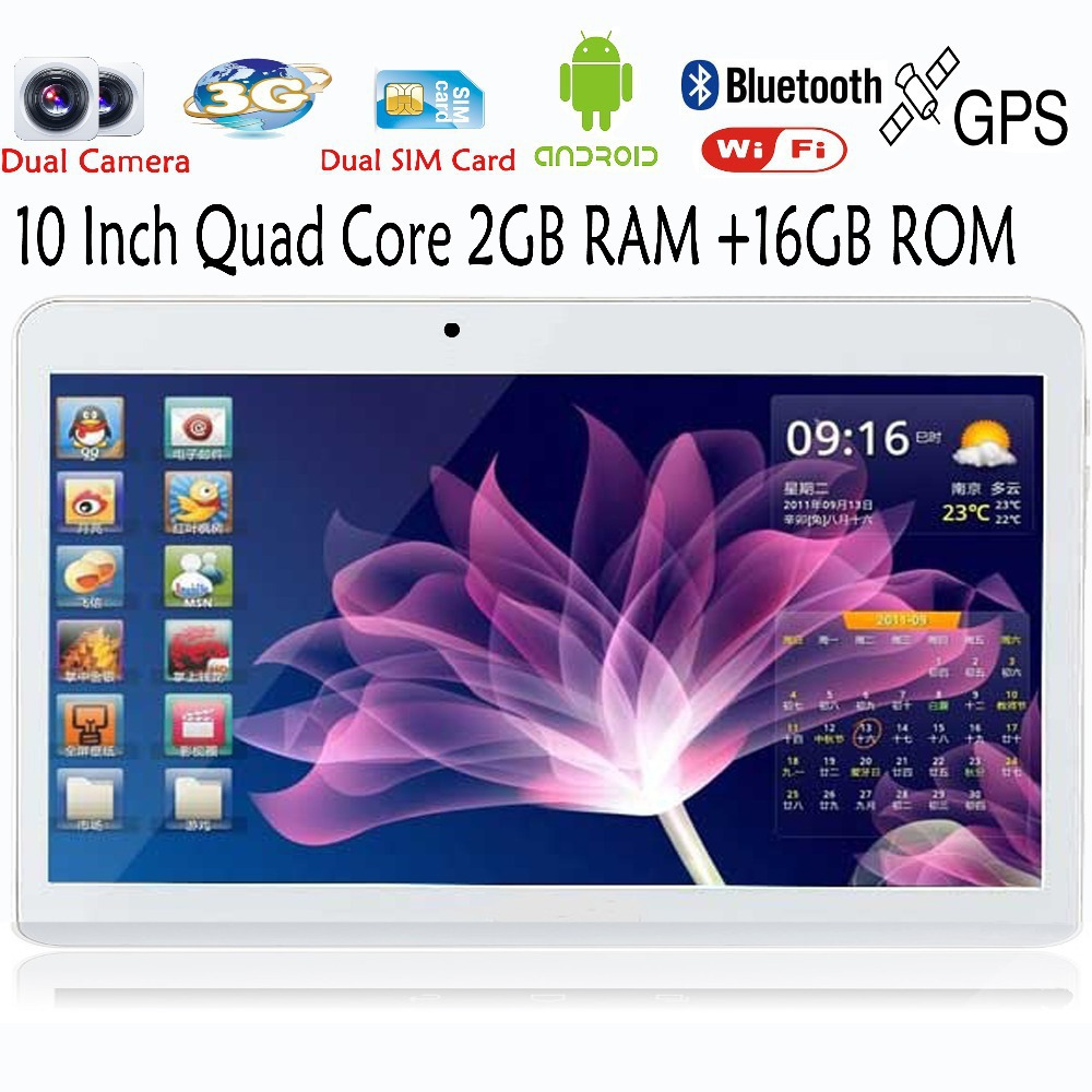 Free DHL 10 Inch Android 4.4 Tablet PC 3G Phone Call Quad Core MTK6582 2GB 16G GPS Bluetooth Ram Phablet Dual SIM card slot BDF(China (Mainland))