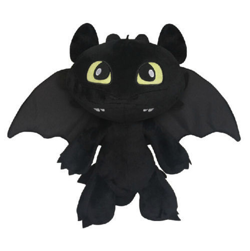 How to Train Your Dragon Toothless Night Fury Stuffed Animal Plush Toy Doll 30CM<br><br>Aliexpress