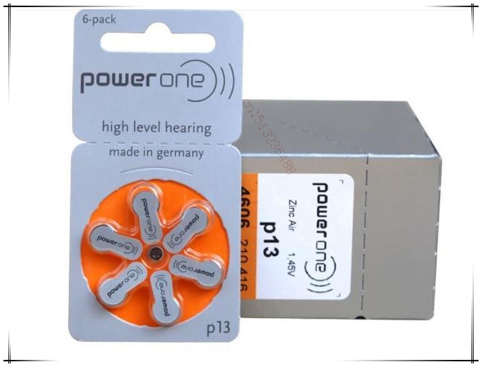 20pack(120pcs )High Quality Genuine PowerOne PR48 P13 A13 S13 zinc air button battery for Hearing aid Free Shipping!(China (Mainland))