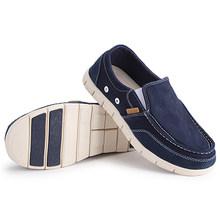 UNN Männer Leinwand Schuhe Frühling Sommer Komfortable Ultraleicht Wohnungen Faul Mode Klassische Flache Licht Müßiggänger Schuhe Mann Solide Blau(China)