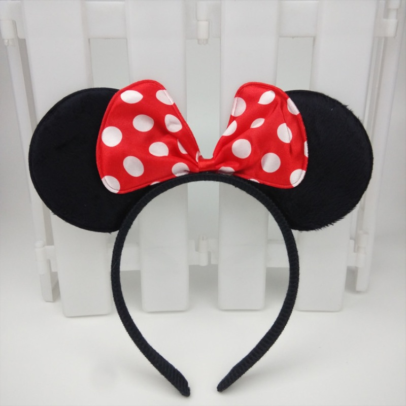 Mickey Ear Pattern With Red Tie Decoration Headband Party Prop For Age Range 4 ~ Adult Christmas Halloween April Fool's Day(China (Mainland))