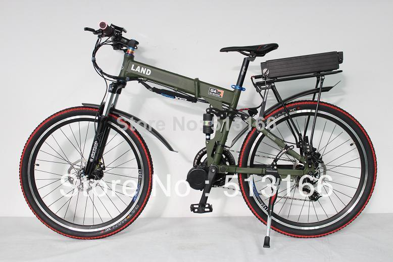 Cheap! 48V 7500W Mid Drive Electric Bike Electric Bicycle Foldable Frame Ebike + 48V 20Ah Battery Full Suspension(China (Mainland))