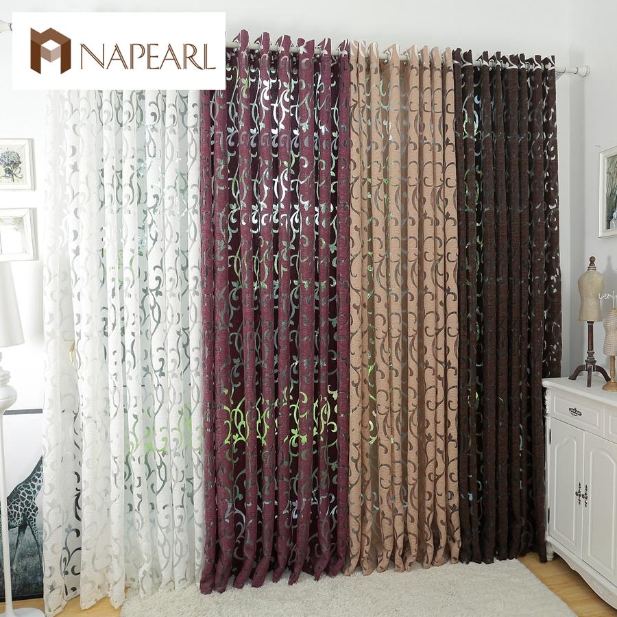 Luxury fashion style semi-blackout curtains kitchen curtains window living room(China (Mainland))