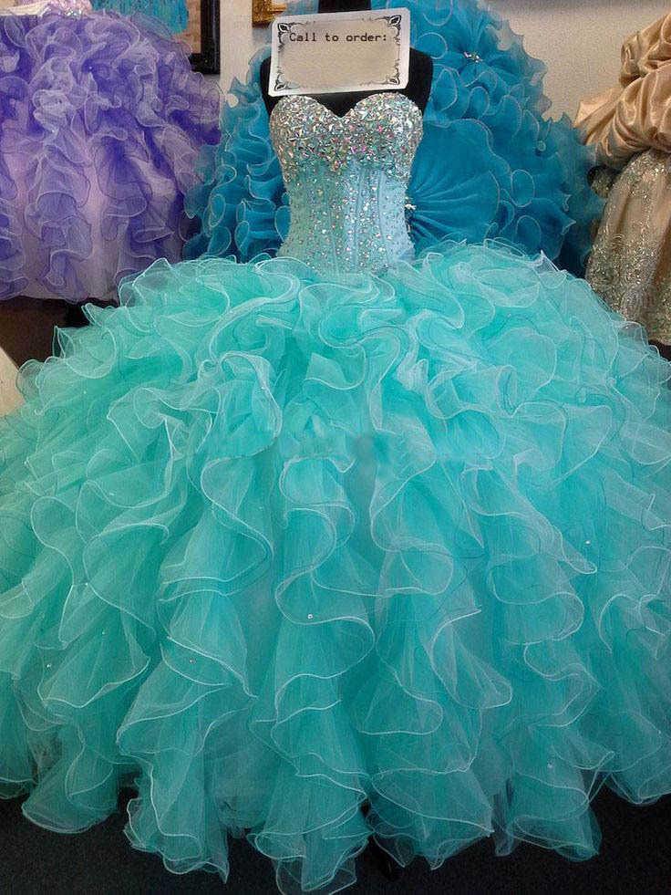 Quinceanera dresses neon colors for damas 2017