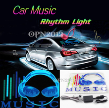 Buy 45x30cm Car Sticker LED EL Sound Activated Equalizer Glow Flash Panel Multi Colour Light Music Rhythm LED Flash Light Lamp 2295 for $50.60 in AliExpress store