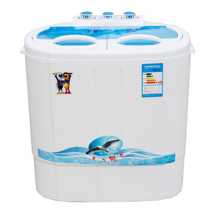 Freeshipping 150w power washer can wash 2kg clothes + 135w power 2kg dryer Twin tub top loading wahser&dryer Semi automatic(China (Mainland))