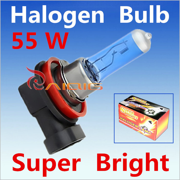 Car Light Source 2pcs H11 Super Bright White Fog Halogen Bulb  55W Car Headlight Lamp wholesale with  retail box promotion<br><br>Aliexpress