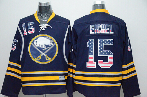 Buffalo Sabres #15 Jack Eichel Men's NHL Jersey Limited Flag Edition Ice Hockey Jersey, 100% Stitched Logos, Free Shipping