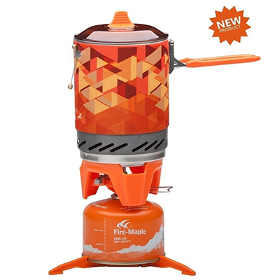 Фотография Hot Sale Outdoor One-Piece Camping Stove  Kitchen Stove Heat Exchanger Pot 1.0L Cooking Stove 600g Fire Maple FMS-X2