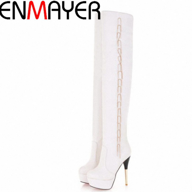 Women sexy high heels party shoes platform patent leather boots knee boots fringed boots large size 34-43 free shipping<br><br>Aliexpress
