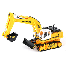 11  Channel Electric RC Excavator Remote Control Navvy Digging Machine Engineering Simulation Trencher Music Lighting Toys(China (Mainland))