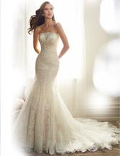 Buy Wedding Dress 2017 Bridal Strapless Sleeveless Chapel Train Mermaid Weeding Bride Gown Vestidos De Novia Dresses for $203.49 in AliExpress store