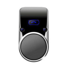 Wireless Bluetooth Hands Free Mini Speakerphone Speaker Car Kit Multipoint Visor Clip w/ Car Charger for iPhone 6 Plus 5 Samsung
