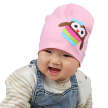 Fashion Baby Hat Infant Girls Cotton Beanies for Spring Autumn Owl Stretch Beautiful Boys Girls Cap 12 Colors SW115
