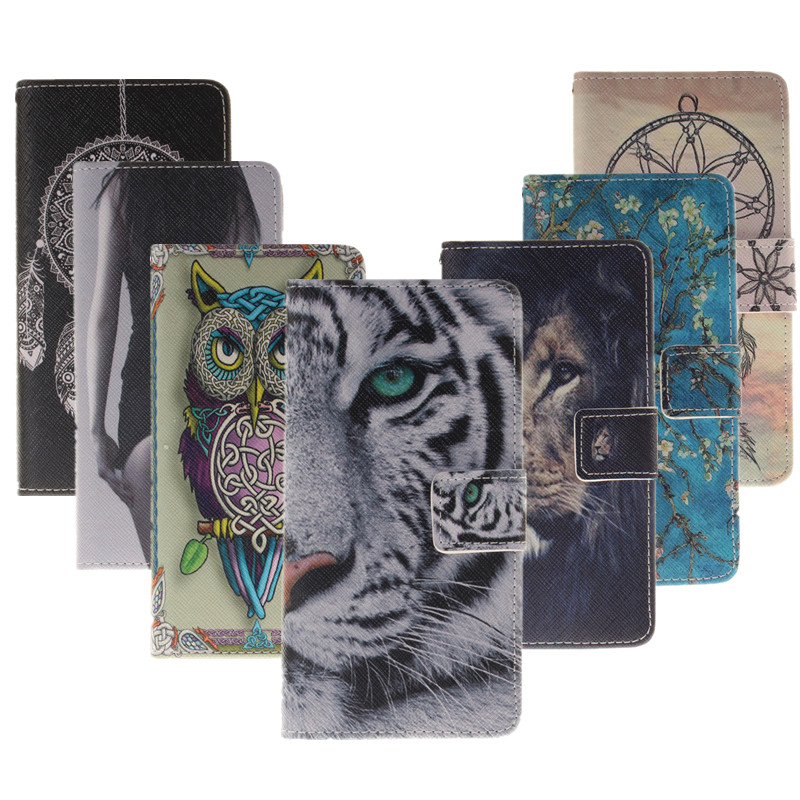 For Xiaomi Redmi Note 3 Case PU Leather Stand Wallet Flip Phone Case Card Holder Tiger Owl Lion Back Case Cover for Redmi Note3(China (Mainland))