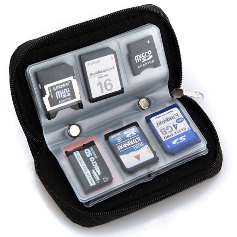 Memory Card Storage Carrying Pouch Case Holder Wallet For CF/SD/SDHC/MS/DS(China (Mainland))