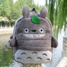 Korean fashion cartoon anime totoro cute plush backpacks school outdoor bag kids children kindergarten baby toy girl gift(China (Mainland))