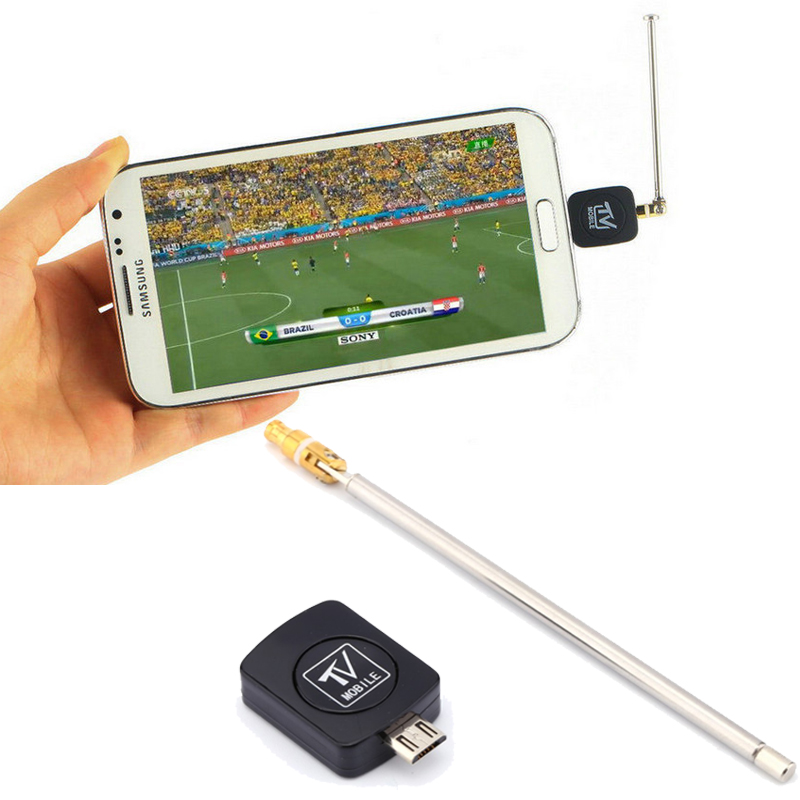 Micro USB Mini DVB-T HD TV Tuner Digital Satellite Dongle Receiver+Antenna For Android 4.03-4.10 Phone Mobile TV Tuner(China (Mainland))