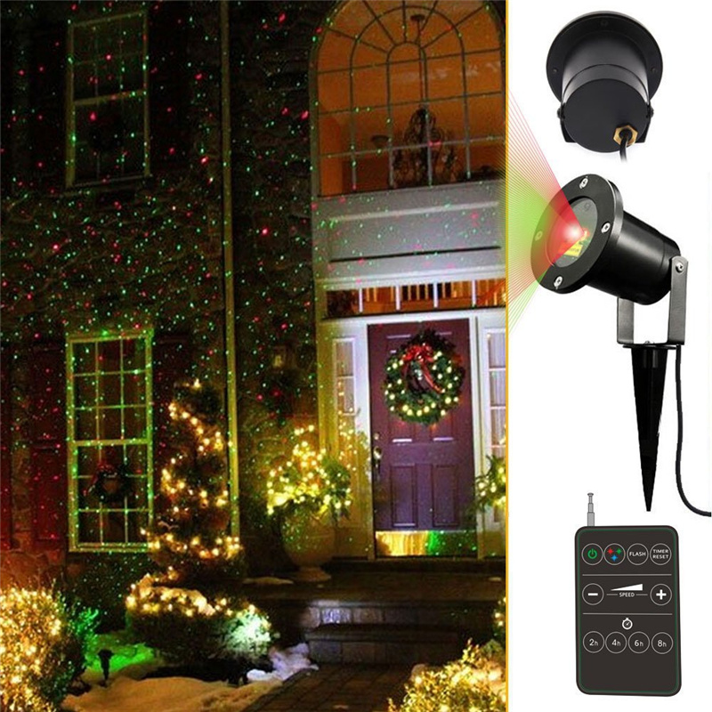 outdoor holiday light projector green blue moving effect elf lights. Black Bedroom Furniture Sets. Home Design Ideas